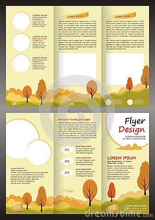 Cartoon Brochure Trifold Template Design Editable A4 Size