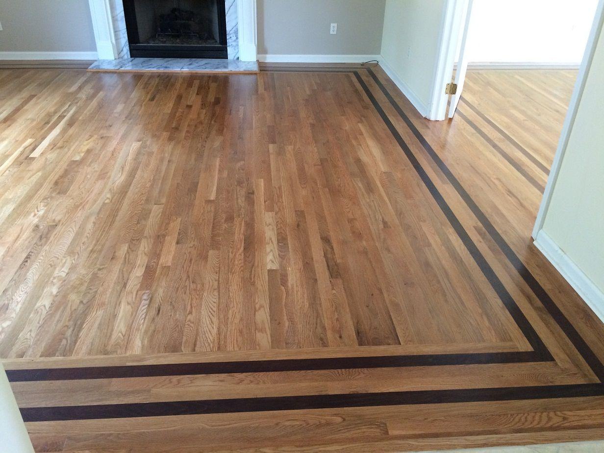 Wood Floor Border Inlay in 2020 Wood floor pattern