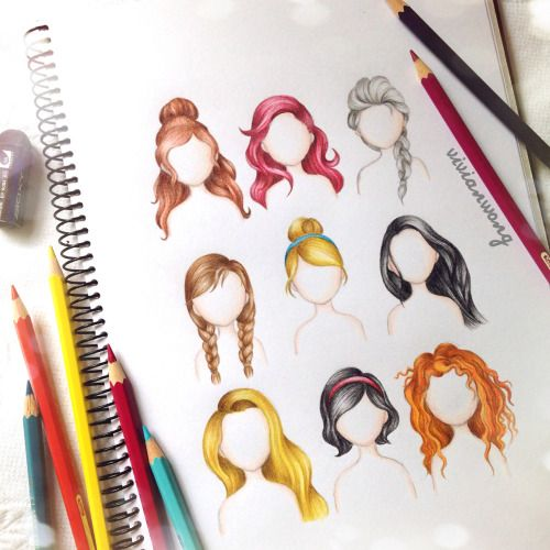 Animated Hairstyles On Princess Google Search Hairstyles - Hairstyle drawing tumblr
