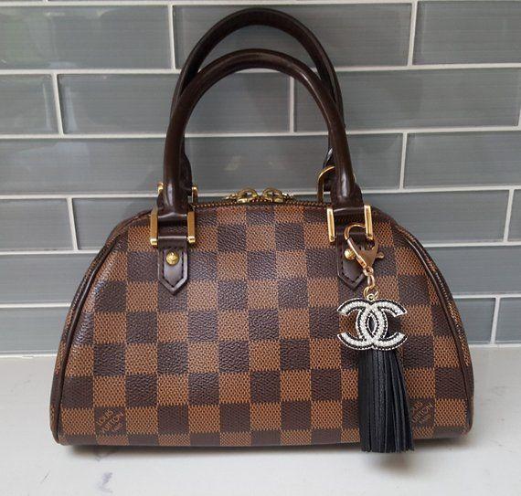 6cb0b84e569e Chanel Inspired CC logo and Tassel Bag Charm/Chanel bag charm/Chanel charm/Chanel  purse charm/Designer bag charm/Designer purse charm