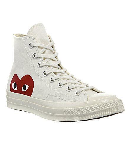 Comme Des Garcons Comme Des Garcons X Converse High Top Canvas Trainers Mens High Top Shoes Converse Men S High Top Sneakers