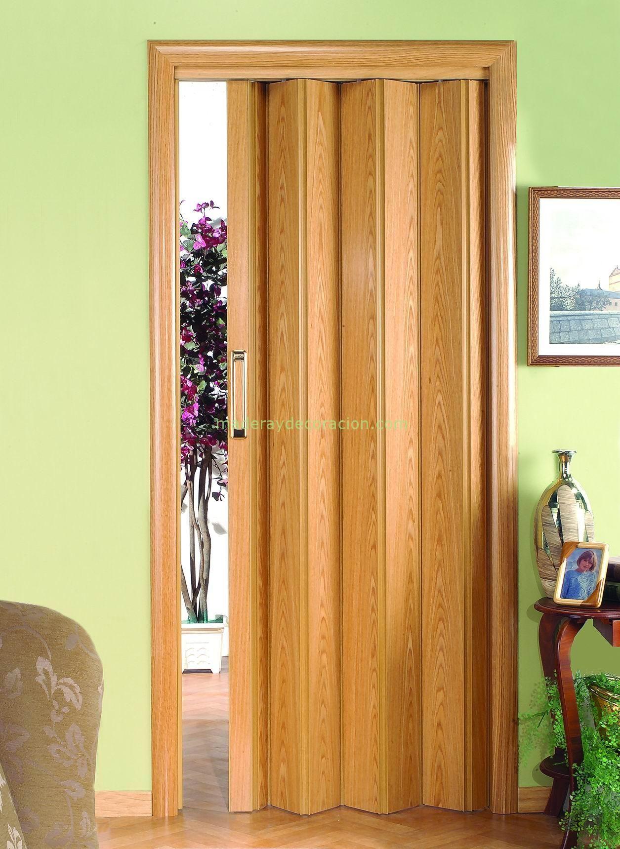 Resultado de imagen para puertas plegables de madera for Ideas de puertas corredizas