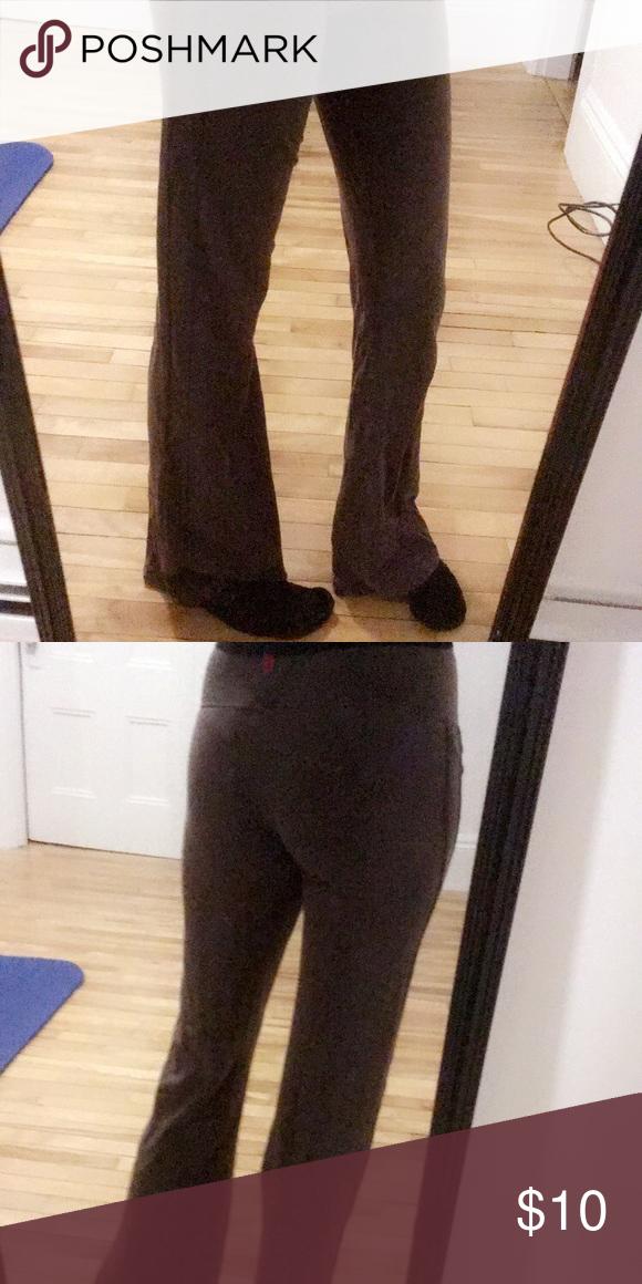 7cd401d517aaf0 Bally Total Fitness Brown Yoga Pants (Stretchy) Bally Total Fitness Brown Yoga  Pants Size