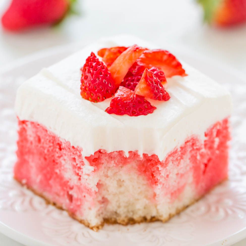 Strawberry Poke Cakes