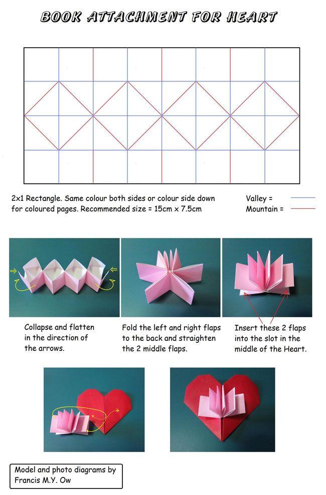 Book Attachment For Heart Corazon Con Libro Diypaper Crafts - Origami-corazn