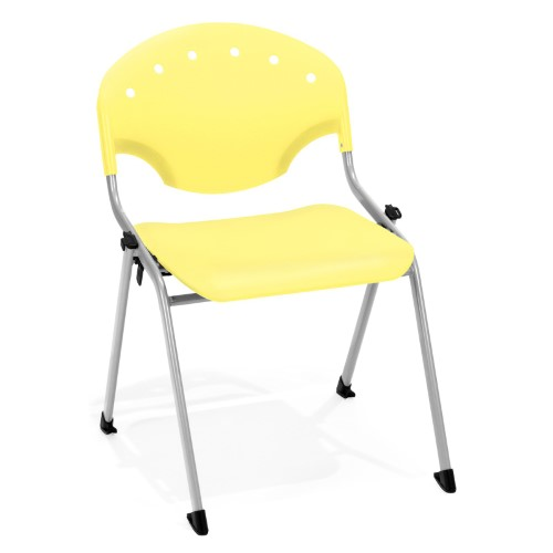 OFM Rico Model 305 Guest Dining Stack Chair, Lemon Yellow