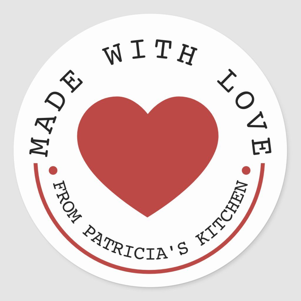 From The Kitchen Of Made With Love Classic Round Sticker