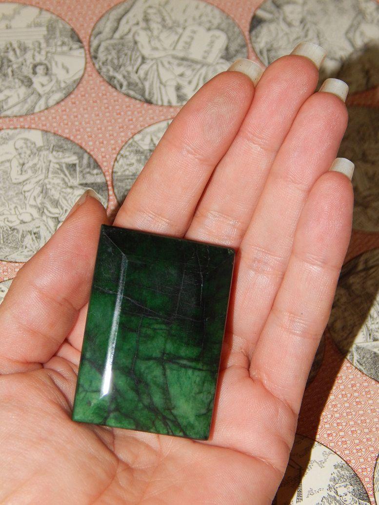 GENUINE EMERALD - Genuine Earth-mined Emerald - HUGE 461 ct Emerald - Large Real Emerald - May Birthstone - Taurus Gemstone - Rectangle Cut (65.95 USD) by esoTERRAca