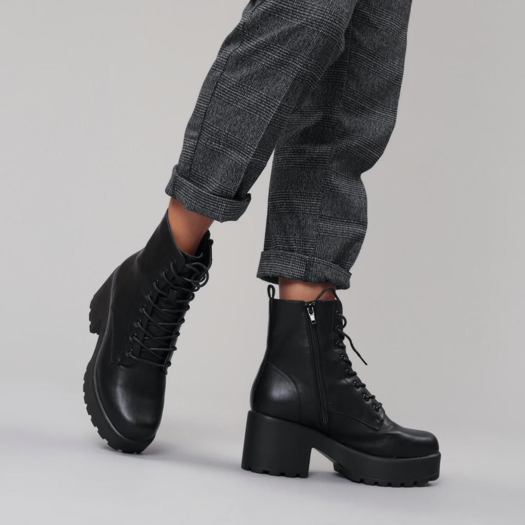 GIN Platform Military Boots | Military