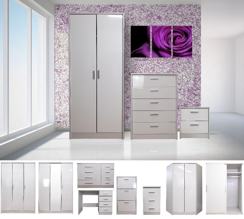 Kreative Hochglanz Weiß Schlafzimmer Möbel Hochglanz