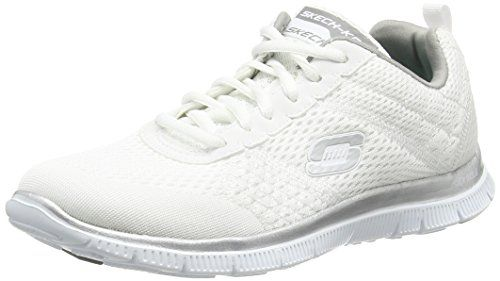 Skechers Flex Appeal Obvious Choice, Damen Sneakers, Weiß (WSL), 41 EU - http://on-line-kaufen.de/skechers/41-eu-skechers-flex-appeal-obvious-choice-damen-9