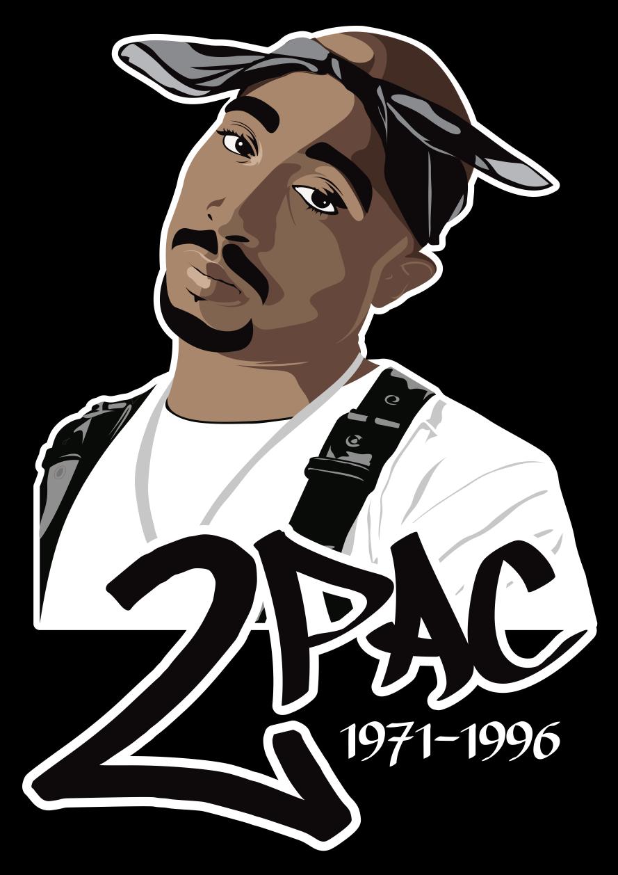 Vector portrait of Tupac Shakur. Tupac shakur, Tupac