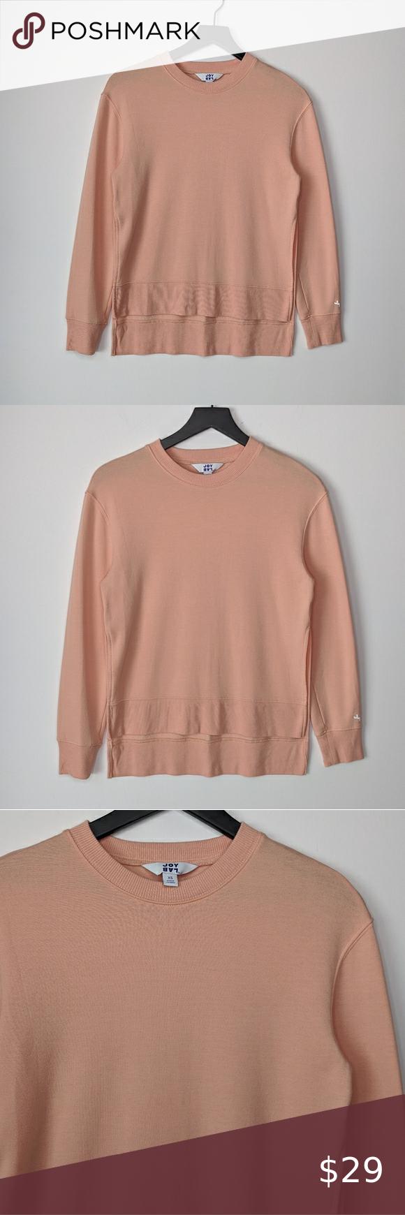 Joylab Peach Crew Neck Sweatshirt With Side Slits Crew Neck Sweatshirt Sweatshirts Joylab [ 1740 x 580 Pixel ]