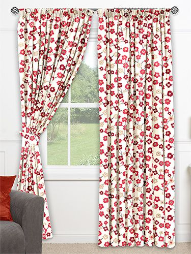 Garland Cherry Blossom Ready Made Curtains from Curtains 2go