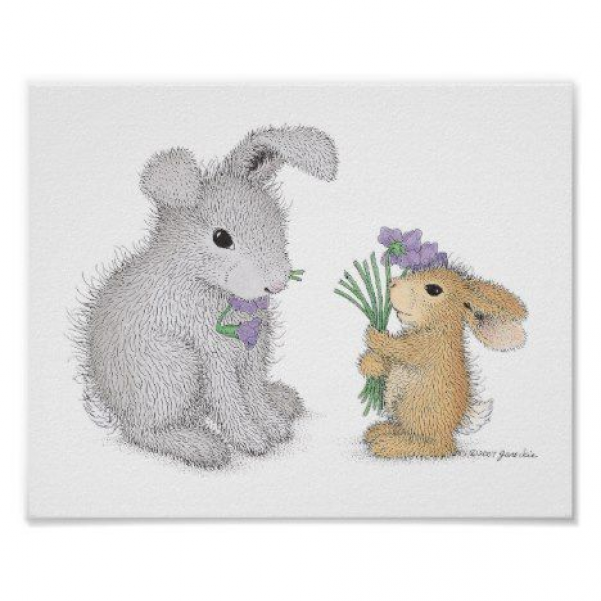 The HappyHoppers Wall Art #happyhoppers #cute #creatures #rabbithouses