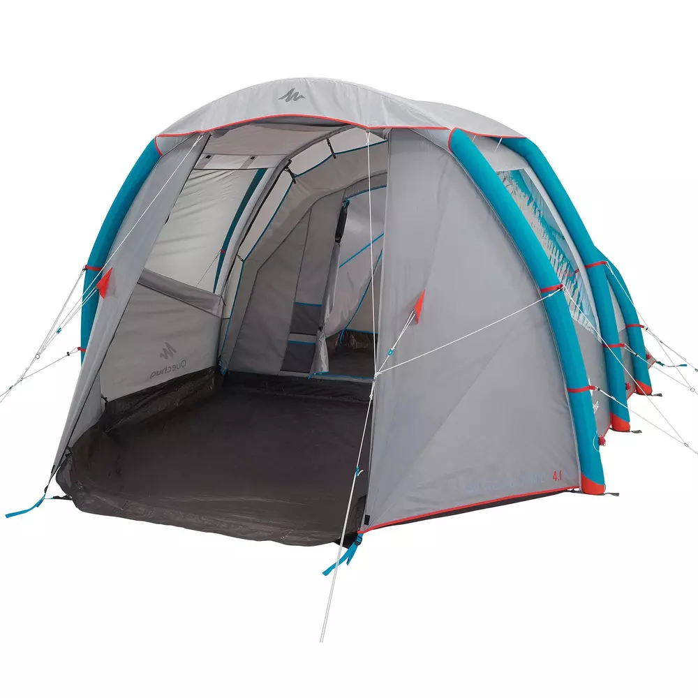 Kampeertent Voor 4 Personen Air Seconds 4 1 Opblaasbaar 1 Slaapcompartiment In 2020 Grote Tent Tent Kamperen Met De Tent