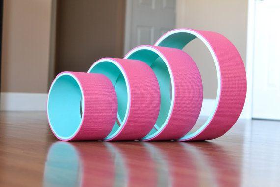Yoga Wheel Set 8 10 12 15 Pink by AReedYogaWheelsLLC on Etsy
