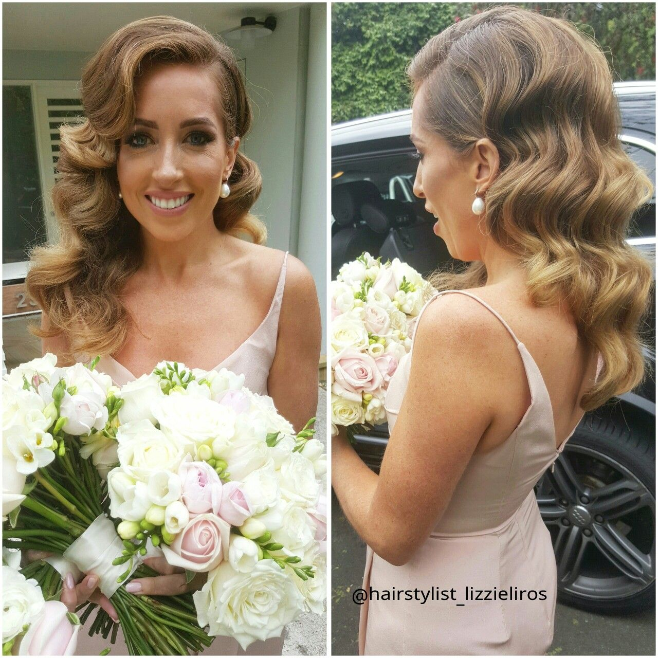 bridesmaids hollywood waves hairstyle | hair | bridal hair