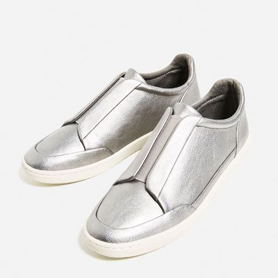 LAMINATED STRETCH SNEAKERS-Sneakers-SHOES-WOMAN | ZARA Philippines