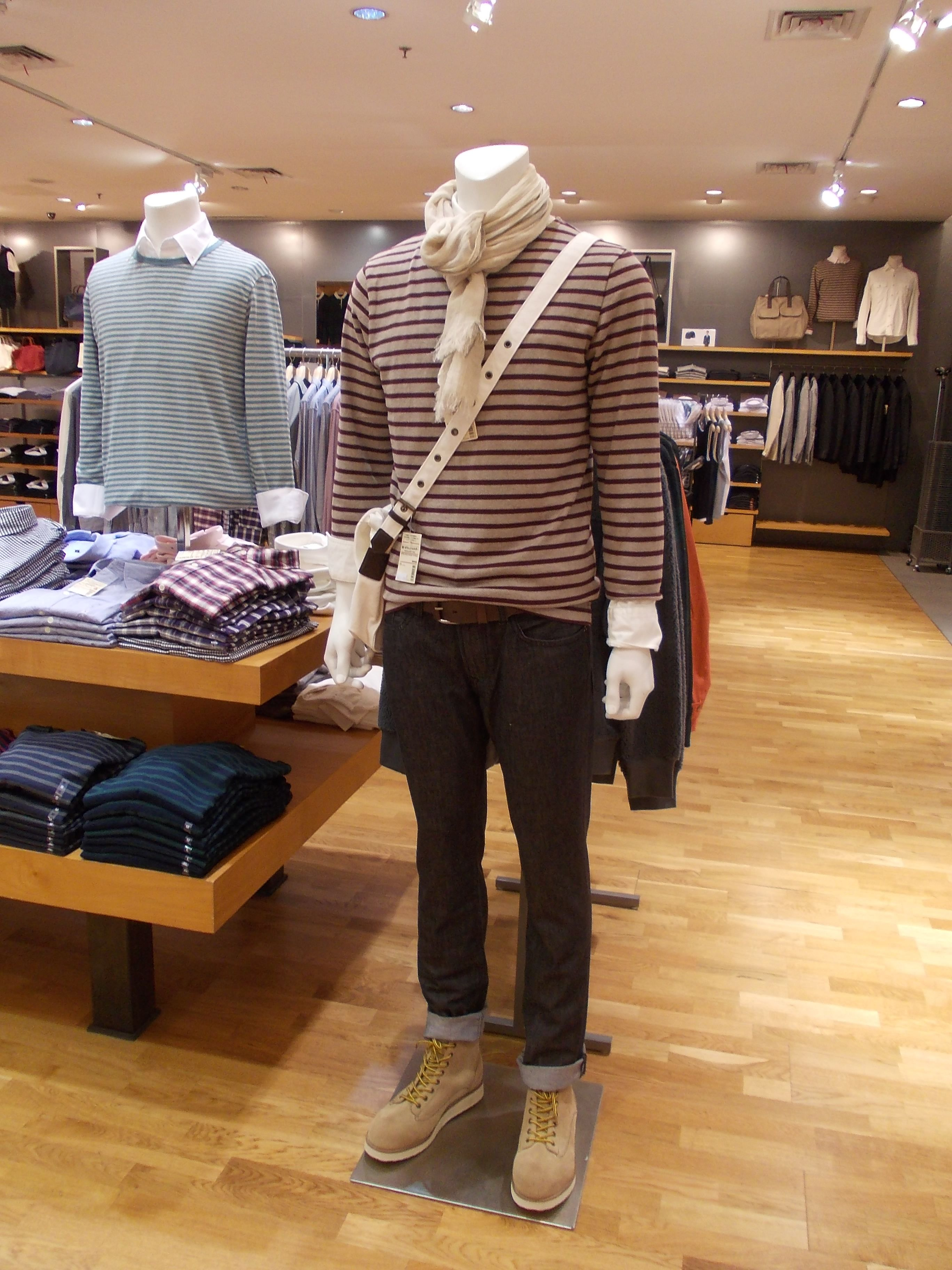 Casual men's apparel @ MUJI Grand Indonesia store