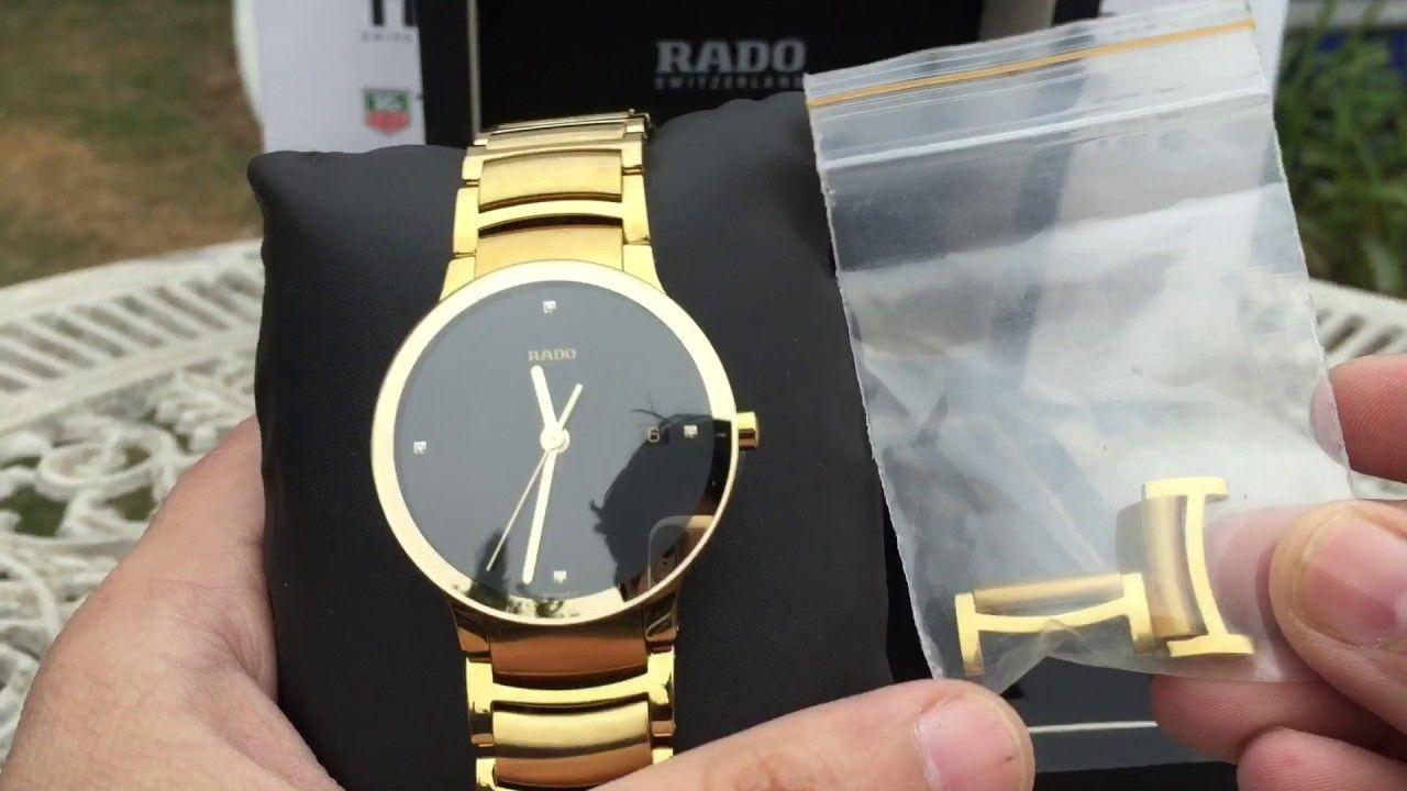 Rado Centrix Diamond Jubilee Unboxing Gold Watch Diamond Michael Kors Watch