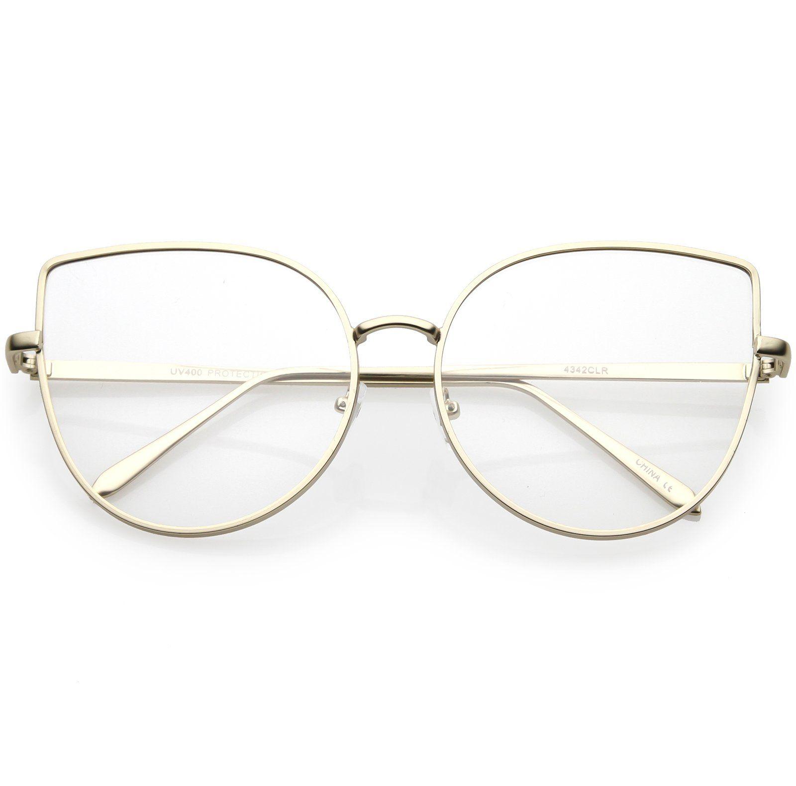 73eae1e8e38 Women s Oversize Metal Cat Eye Glasses Slim Arms Flat Lens 59mm  frame   clear  summer  sunglasses  purple  bold  oversized  womens  sunglassla   mirrored