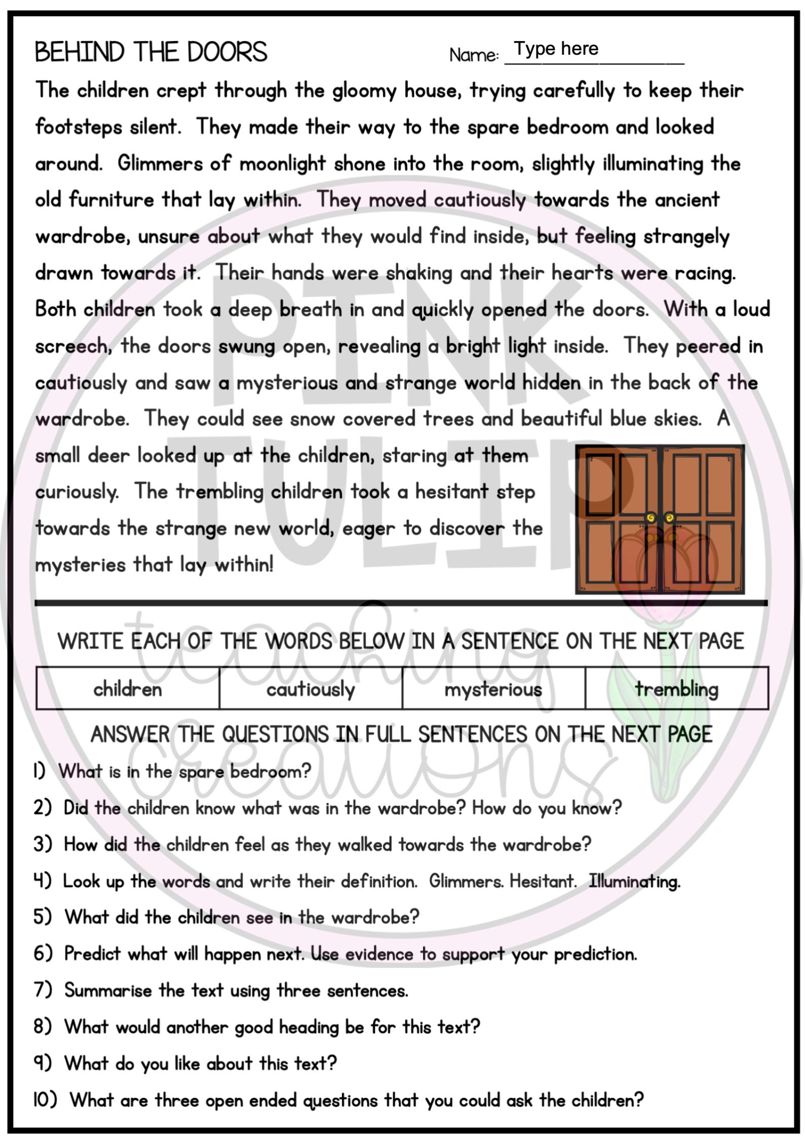 10 Page Reading Comprehension Worksheet Pack Google Slides Distance Learning Comprehension Worksheets Reading Comprehension Worksheets Reading Comprehension [ 2249 x 1589 Pixel ]