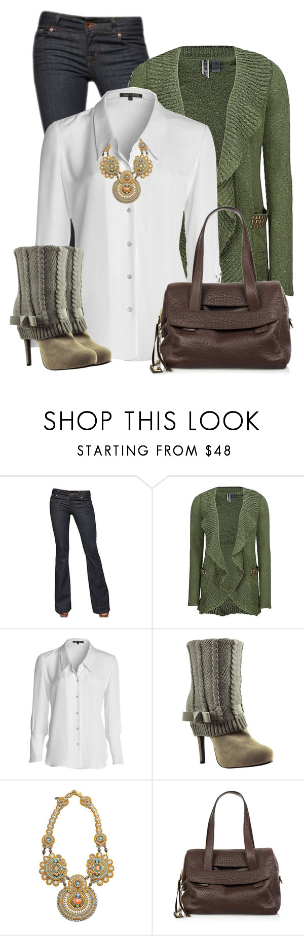 """""""Sweater Boots"""" by daiscat ❤ liked on Polyvore featuring J Brand, BKE, NIC+ZOE, Bakers, Dori Csengeri and Jimmy Choo"""