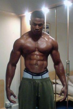 Sexy black guys with abs