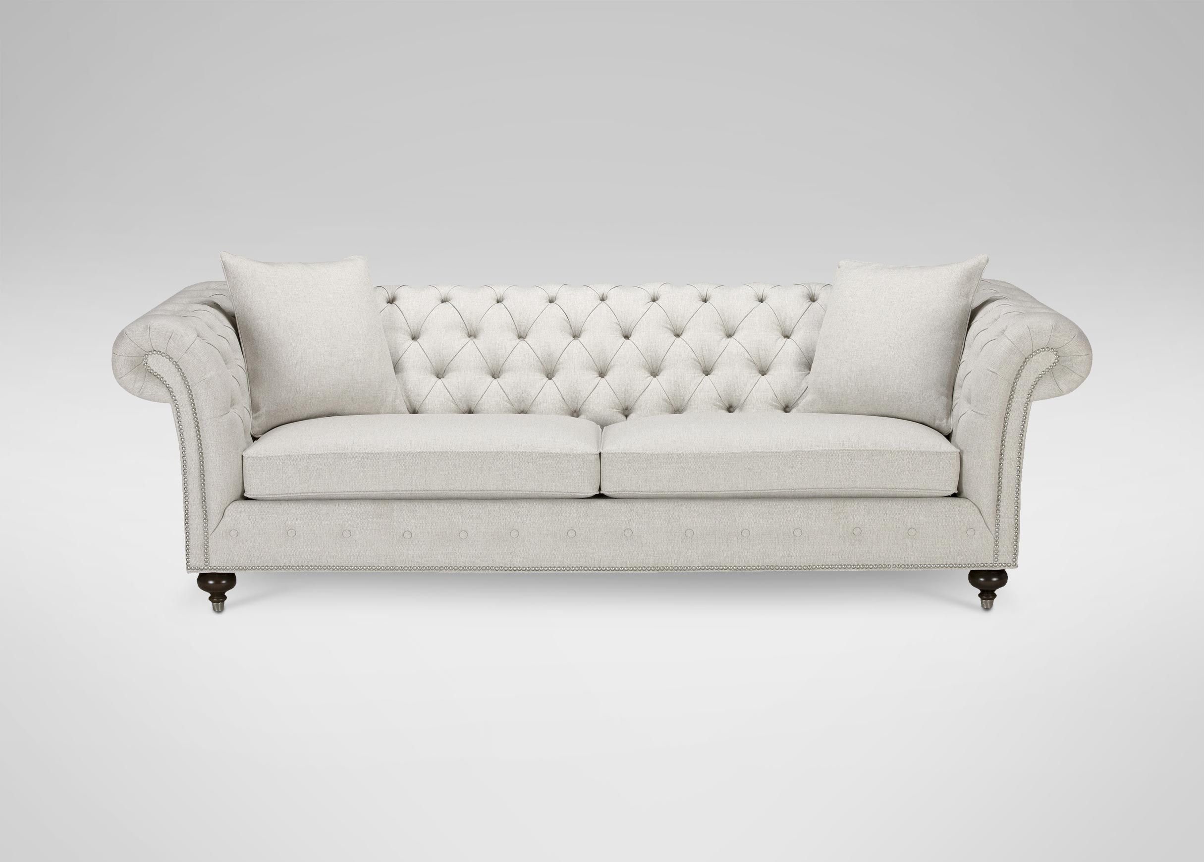 Broyhill Sofa Mansfield Inch Graphite Velvet Sofa