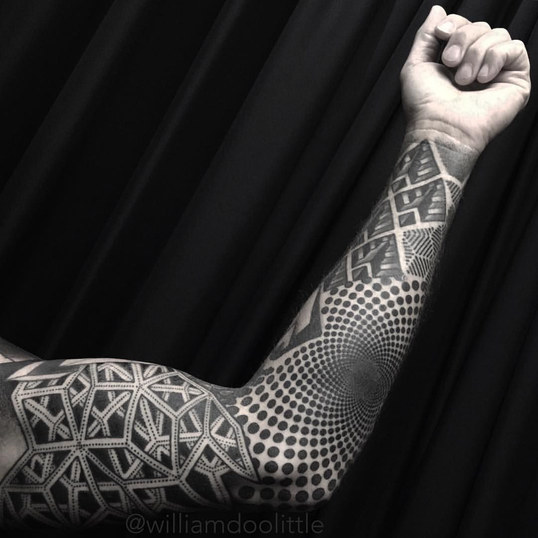 Stippling Tattoo Sleeves: Thanks Rick! One More To Go On This Full Sleeve Project