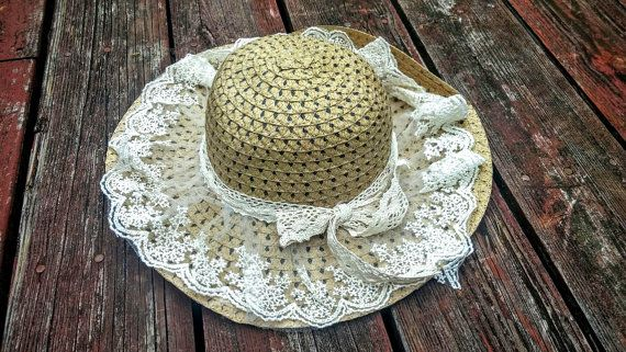 Boho Crochet Lace Sun Hat Floppy Sun Hat Wide Brim by FashNerds