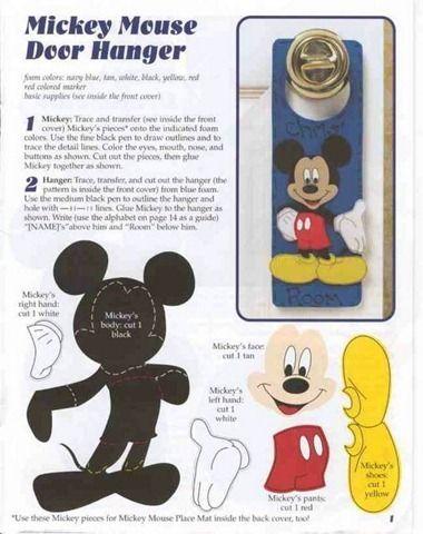 Disney Fomy Eva Artesanato Do Mickey Mouse Molde Mickey Mickey