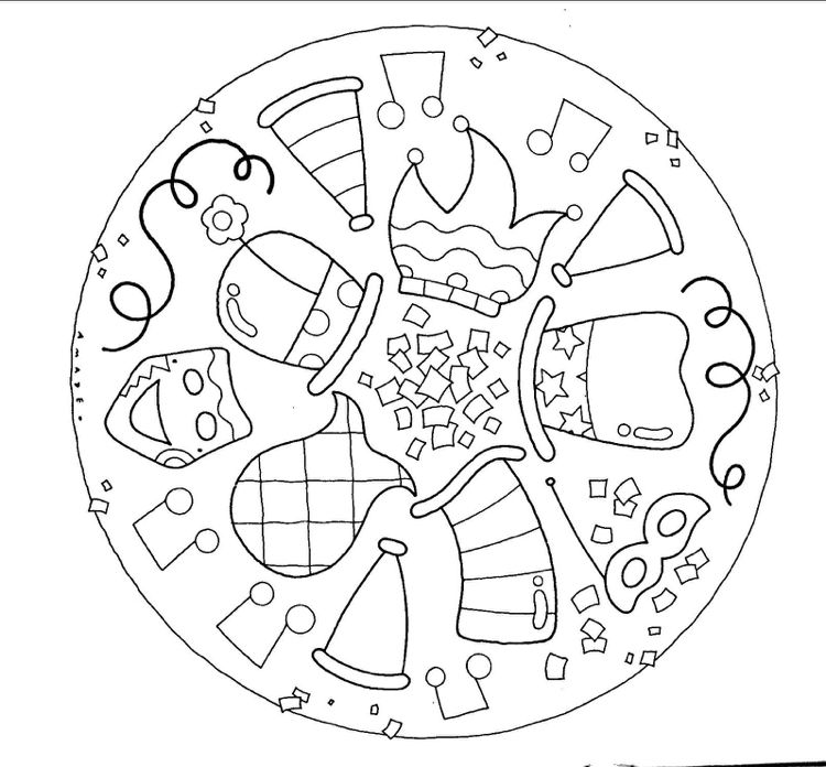 faschingsbilder mandala zum ausmalen kinder children