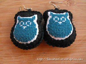 I gufi cioccioni/fat owl earrings