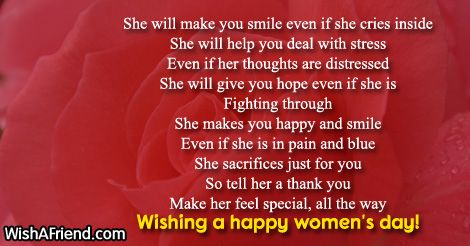 18602-womens-day-poems   Poems, Are you happy, Stress help