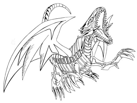 Blue Eyes White Dragon Coloring Pages - Yu Gi Oh cartoon coloring ...