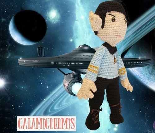 Patrón de Mr. Spock Amigurumi
