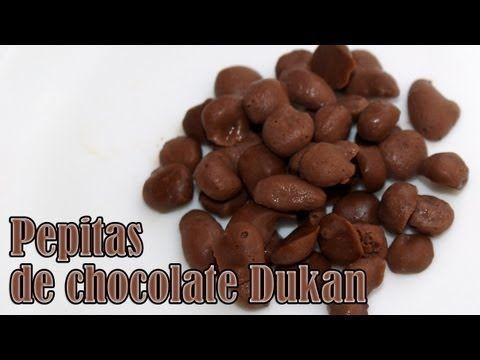 Como Hacer Pepitas De Chocolate Dukan Youtube Pepitas De