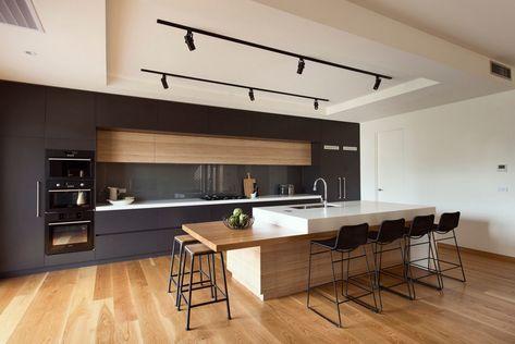 Îlot à deux niveaux dans une cuisine moderne -> D\'autres ...