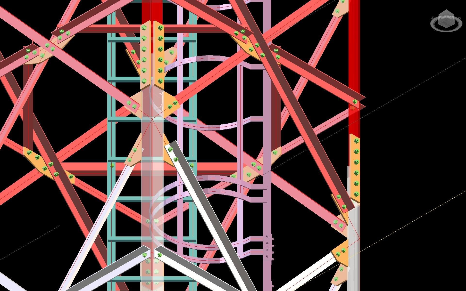 Lattice Tower - Translink Telecomunication Towers - Joints