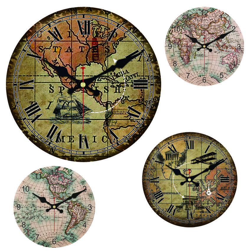 World map wall clock price 1199 free shipping diy home world map wall clock price 1199 free shipping diy gumiabroncs Gallery