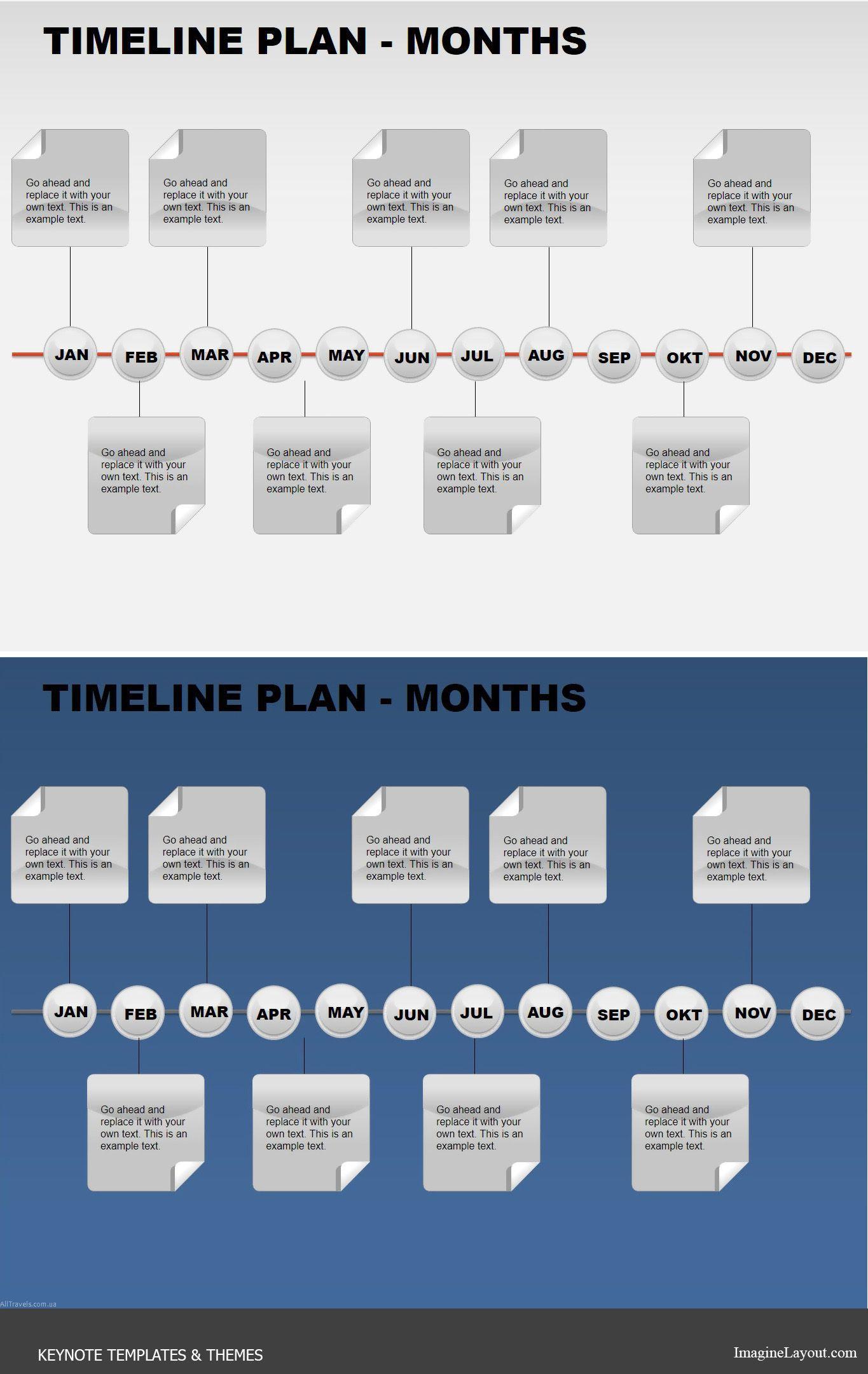 Timeline Plan Months  Keynote Charts    Keynote
