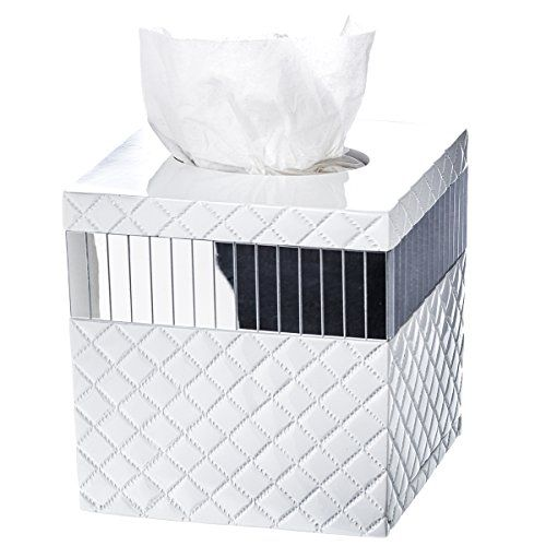 Quilted Mirror Tissue Box Cover Square 6 X 575 Decorative Bath Tissues Paper Napkin