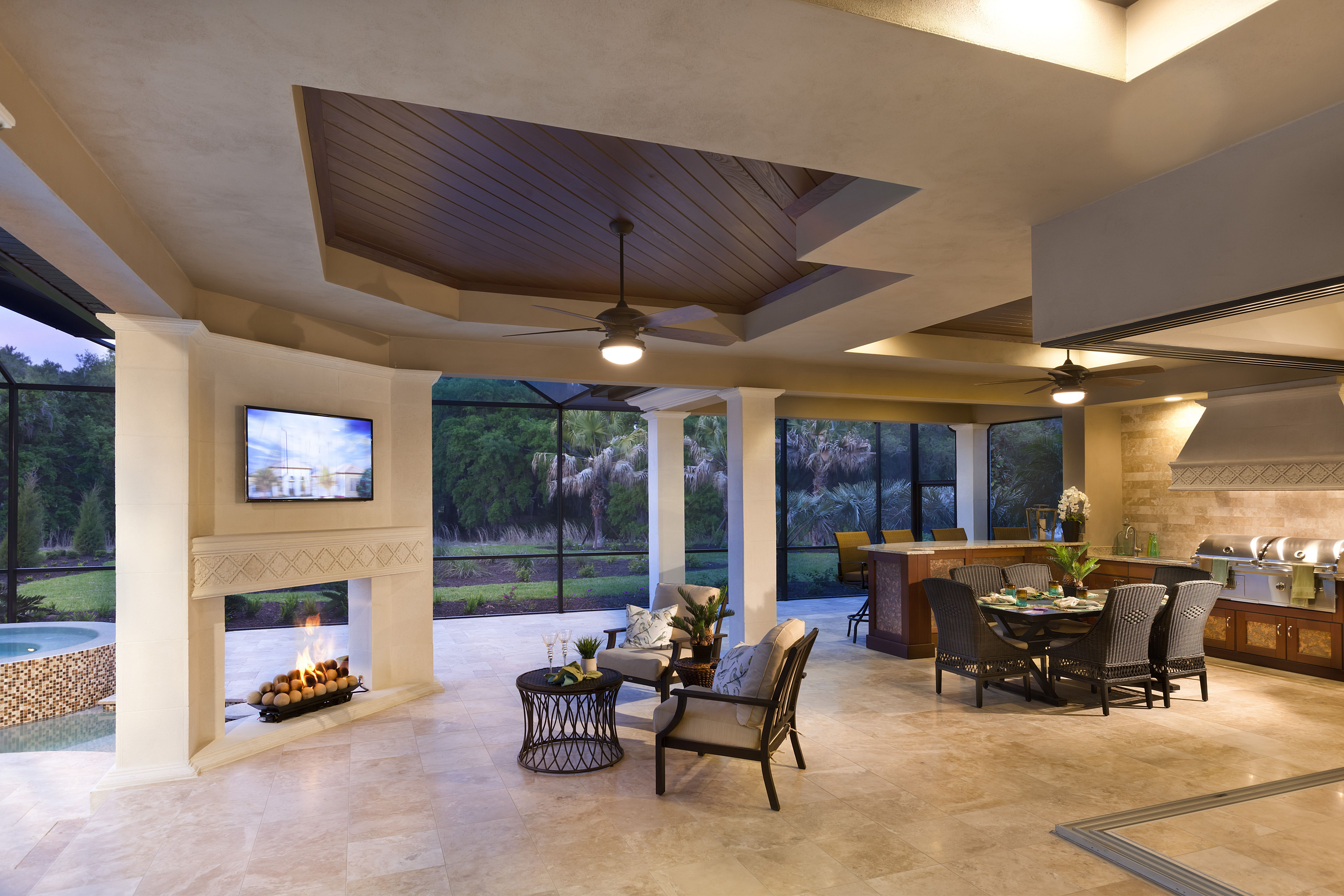 Lee Wetherington Homes Outdoor Living At The Verona Model At The Concession Theconcessio Luxury Outdoor Kitchen Outdoor Kitchen Cabinets Outdoor Living Areas
