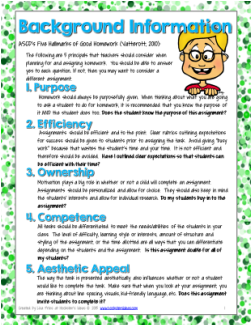5 hallmarks of good homework
