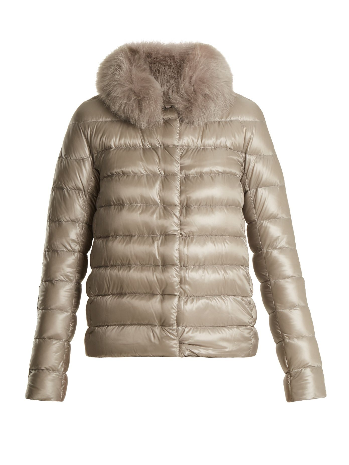 Down filled quilted coat