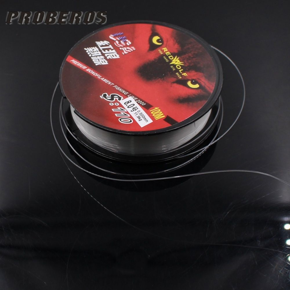 New 1pcs Fluoro carbon fishing line 100m for fish tackle 0.4-8.0 ...