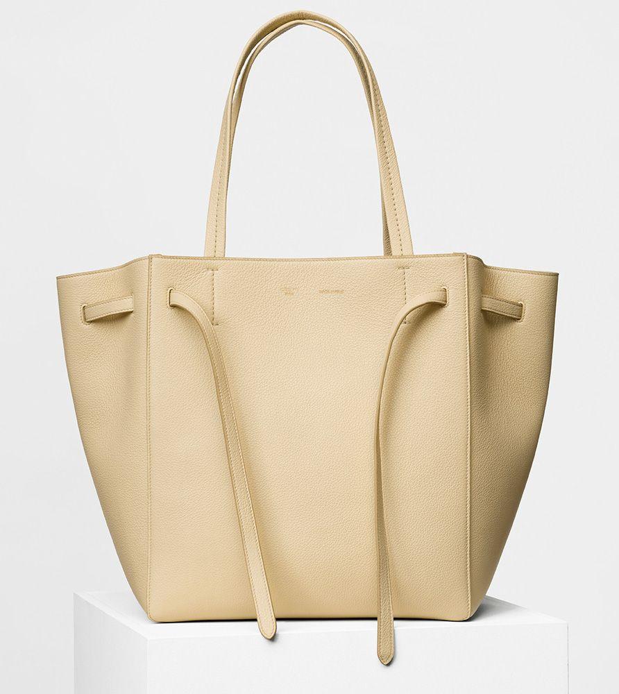 Celine Small Cabas Phantom Tote Cream 1700 Calf Leather