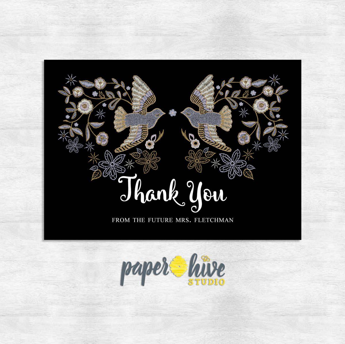 Wedding Thank you cards / bridal shower thank you card / shower thank you notes / Printed cards #businessthankyoucards